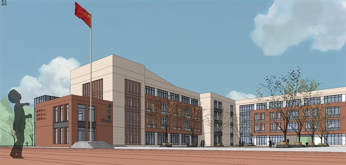 现代简约式风格小型小学学校校园规划设计(8)