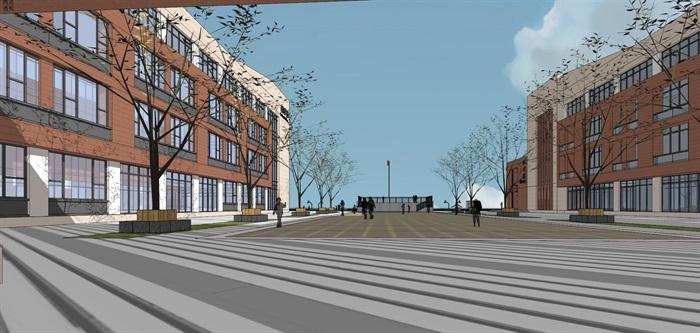 现代简约式风格小型小学学校校园规划设计(10)