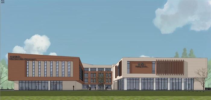 现代简约式风格小型小学学校校园规划设计(12)