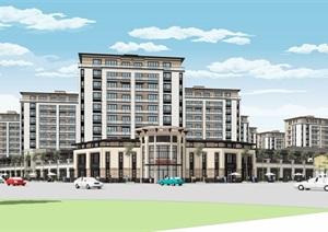 新亚洲新古典风格精致高端小区规划住宅洋房沿街商业