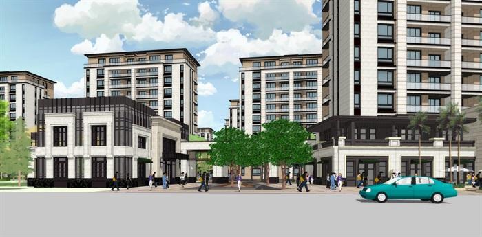 新亚洲新古典风格精致高端小区规划住宅洋房沿街商业(2)
