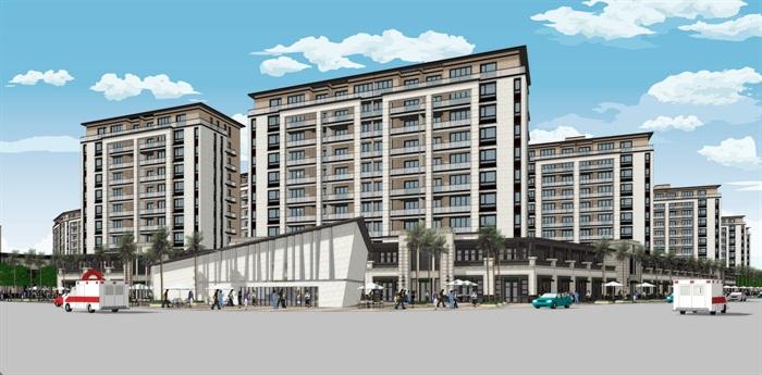新亚洲新古典风格精致高端小区规划住宅洋房沿街商业(3)