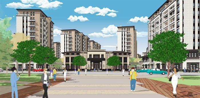 新亚洲新古典风格精致高端小区规划住宅洋房沿街商业(4)