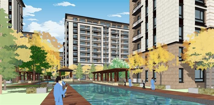 新亚洲新古典风格精致高端小区规划住宅洋房沿街商业(6)