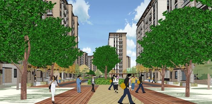 新亚洲新古典风格精致高端小区规划住宅洋房沿街商业(7)