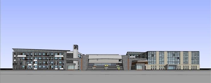 现代中式新中式风格中小学校校园规划设计(2)