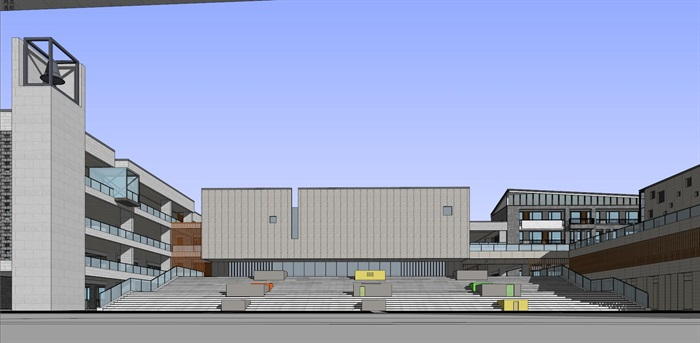 现代中式新中式风格中小学校校园规划设计(3)