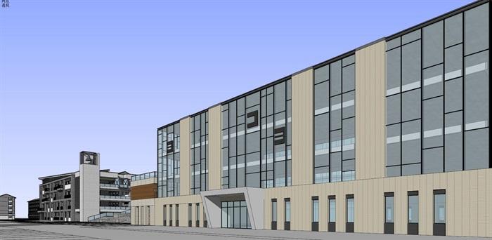 现代中式新中式风格中小学校校园规划设计(5)