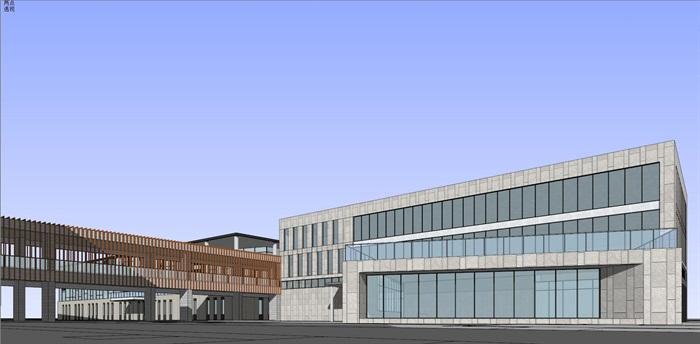 现代中式新中式风格中小学校校园规划设计(8)