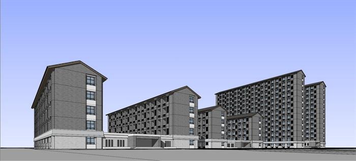 现代中式新中式风格中小学校校园规划设计(9)