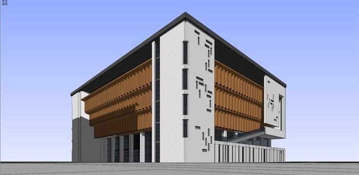 现代中式新中式风格中小学校校园规划设计(10)