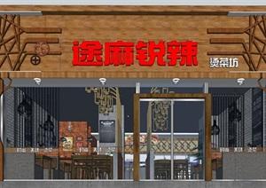 麻辣烫小吃店店铺室内设计