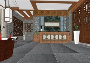 中式餐馆餐厅小吃店室内设计