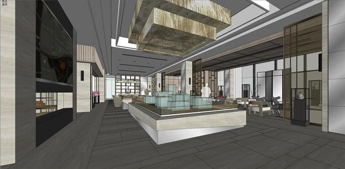高端典雅风格售楼中心售楼处接待中心室内设计(3)