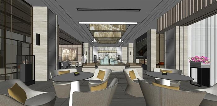 高端典雅风格售楼中心售楼处接待中心室内设计(4)