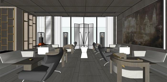 高端典雅风格售楼中心售楼处接待中心室内设计(5)