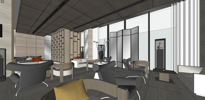 高端典雅风格售楼中心售楼处接待中心室内设计(6)