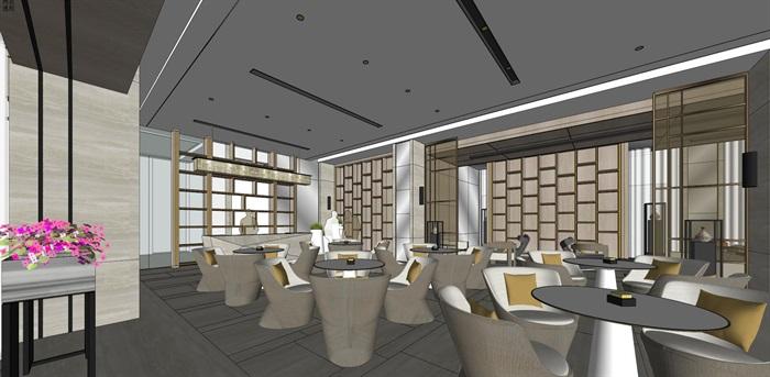 高端典雅风格售楼中心售楼处接待中心室内设计(7)