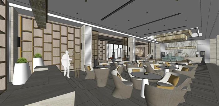 高端典雅风格售楼中心售楼处接待中心室内设计(8)
