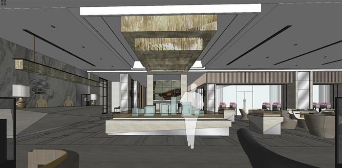 高端典雅风格售楼中心售楼处接待中心室内设计(9)