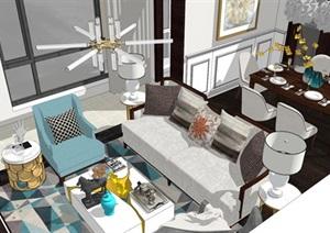 现代简约北欧风格住宅室内设计