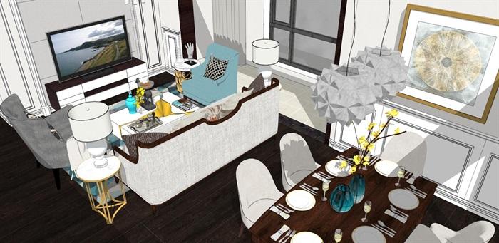 现代简约北欧风格住宅室内设计(2)