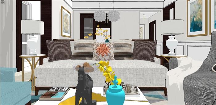 现代简约北欧风格住宅室内设计(3)