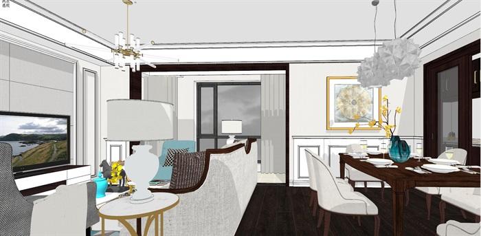 现代简约北欧风格住宅室内设计(5)