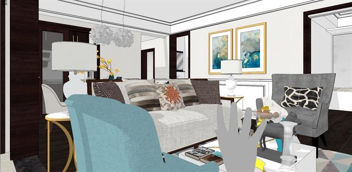 现代简约北欧风格住宅室内设计(6)
