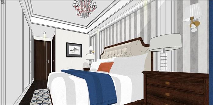 现代简约北欧风格住宅室内设计(7)