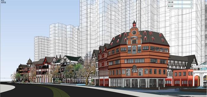 北欧欧式风格特色风情商业街欧式小镇规划(1)