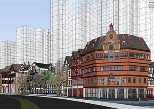 北欧欧式风格特色风情商业街欧式小镇规划