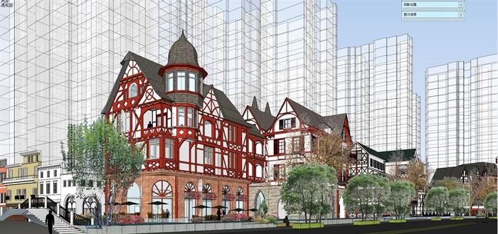 北欧欧式风格特色风情商业街欧式小镇规划(2)