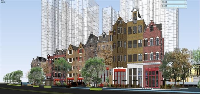 北欧欧式风格特色风情商业街欧式小镇规划(3)
