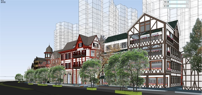 北欧欧式风格特色风情商业街欧式小镇规划(4)