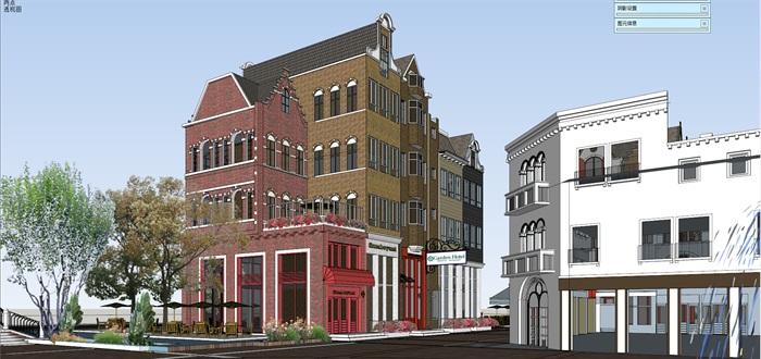 北欧欧式风格特色风情商业街欧式小镇规划(5)
