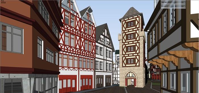 北欧欧式风格特色风情商业街欧式小镇规划(6)