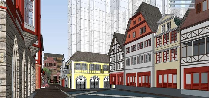北欧欧式风格特色风情商业街欧式小镇规划(7)