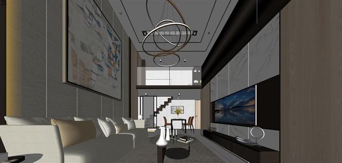现代简约风精装LOFT住宅公寓室内设计(2)
