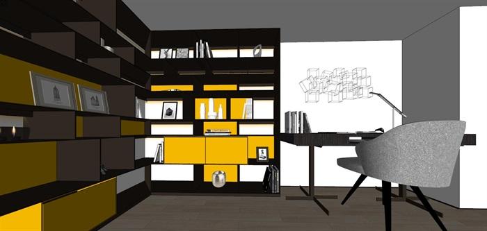 现代简约风精装LOFT住宅公寓室内设计(7)