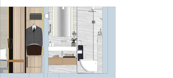 现代简约风精装LOFT住宅公寓室内设计(11)