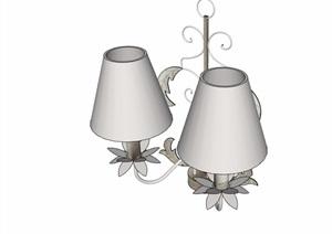 某详细的完整室内灯饰素材设计SU(草图大师)模型