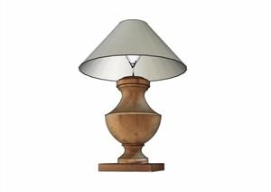 欧式室内台灯素材设计SU(草图大师)模型