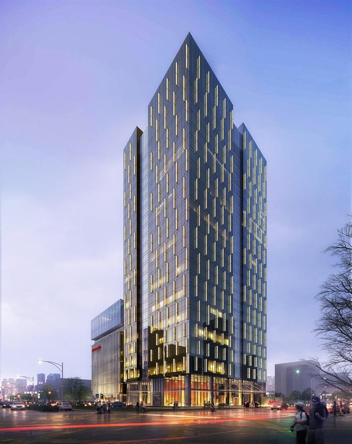 万豪现代五星级酒店旅店宾馆建筑施工图设计(2)