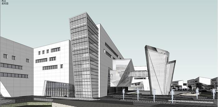 幸运飞艇上海 浦东幸运飞艇软件 园办公楼0.47产业园+su模型+3d(3)