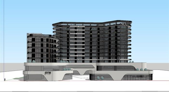 国际会议中心+公寓(2)