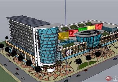 某現代風格購物中心建筑設計su模型