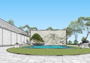 现代经典高端典雅风坡屋顶住宅示范区售楼处交流中心