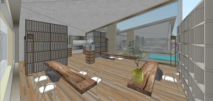 现代经典高端典雅风坡屋顶住宅示范区售楼处交流中心(7)