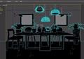 现代餐桌椅详细完整设计3d模型及效果图